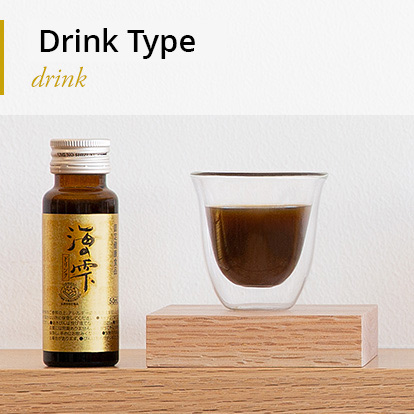 "High-molecular-weight Fucoidan & Agaricus Supplement ""UminoShizuku"" Drink Type"