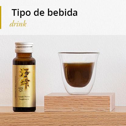 """De alto peso molecular Fucoidan y Agaricus Suplemento """"UminoShizuku"""" Tipo de Bebida"""