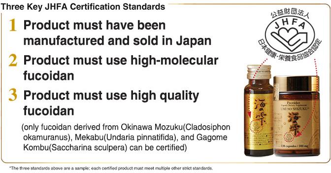 Three Key JHFA Certification Standards
