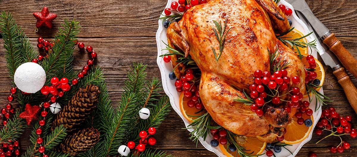 Enjoy the Holiday season with a Turkey Dinner