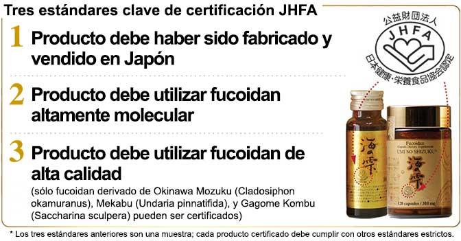 Tres estándares clave de certificación JHFA
