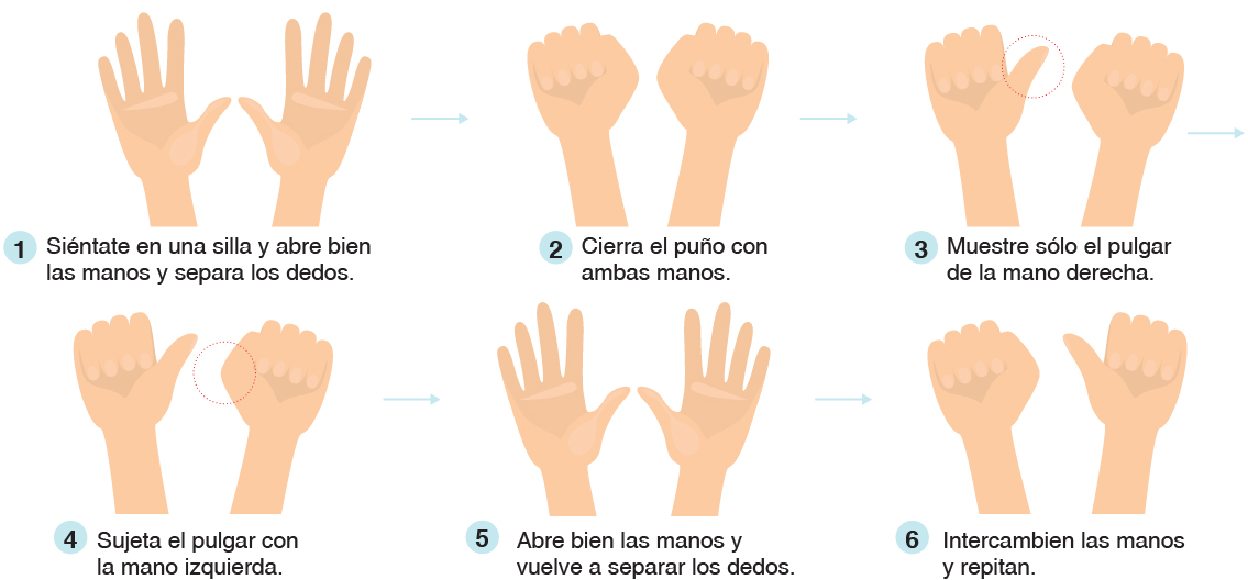 ejercicios con los dedos